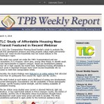 TLC Study of Affordable Housing Near Transit Featured in Recent Webinar (TPB Weekly Report, March 4, 2014)